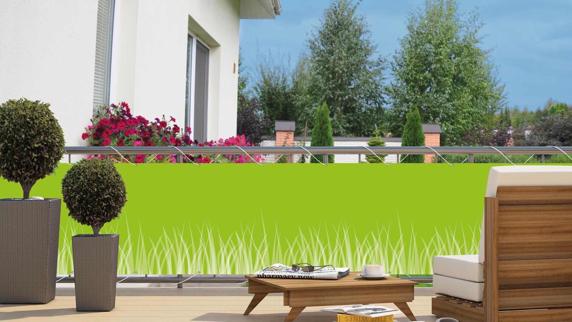 Balkon Sichtschutz Gras : balkon sichtschutz hecht international ~ Michelbontemps.com Haus und Dekorationen