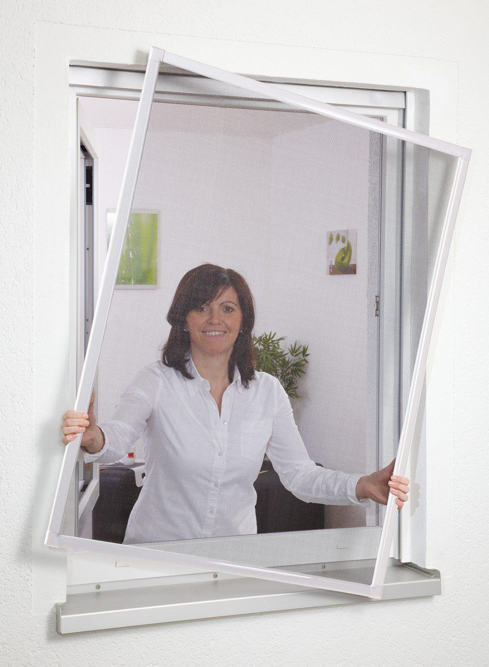 Hauptbild Insektenschutzfenster Basic in Farbe weiß