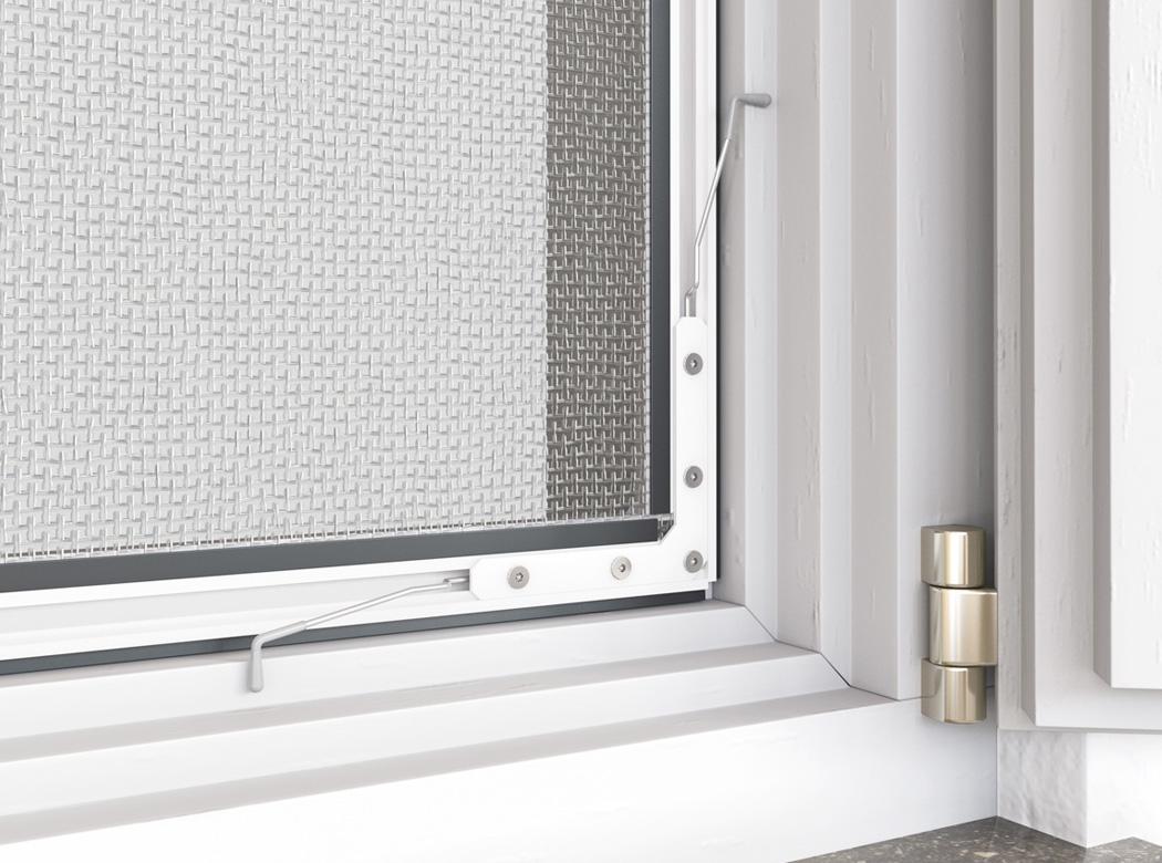 hecht international 101020202-VH Fliegengitter Fenster fl/ächenb/ündigCOMPACT 100x120 cm in Braun,