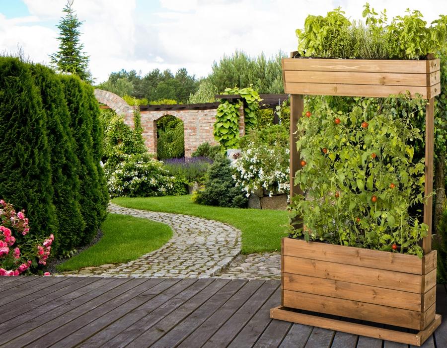 vertical flower bed hecht international. Black Bedroom Furniture Sets. Home Design Ideas